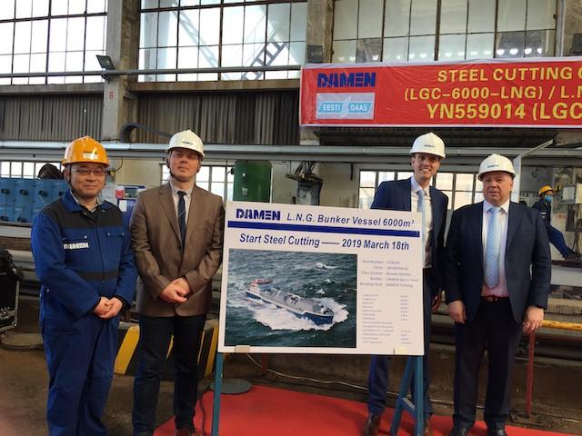 Elenger LNG bunkurētājkuģa būvniecība