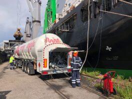 LNG bunkering in the port of Hanasaari