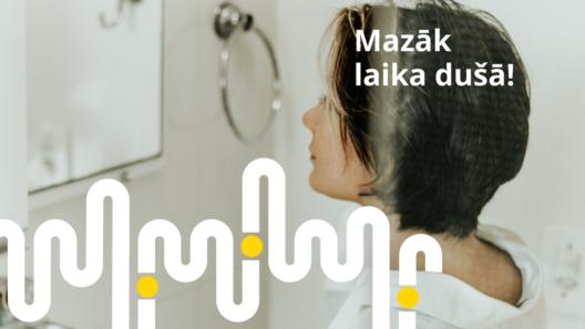 Pavadi mazāk laika dušā